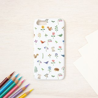 "Fragments of a picture book. Smartphone Case ""Multicolored flowers and animals"" SC-92"