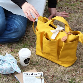 nap: Yellow Kurashiki canvas shoulder bag