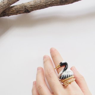 Red-crowned crane ring set