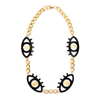 Double Greed Eyes Necklace