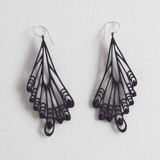 papillon black earrings