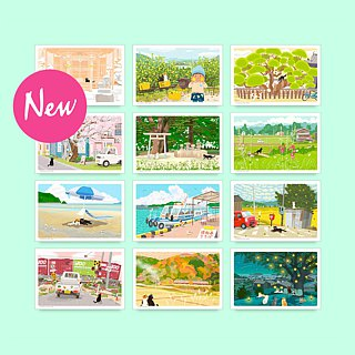 Taberneko postcard design C set (12 pieces included)