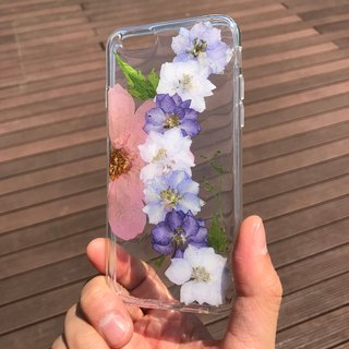 iPhone 6 手机壳 Dry Pressed Flowers Case 押花 干燥花 叶子 紫色压花 025