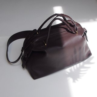 Karen Leather Bowler Bag in Chestnut