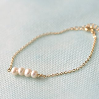 5mm freshwater pearl potato chain bracelet