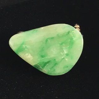 Burmese natural jade brooch 2