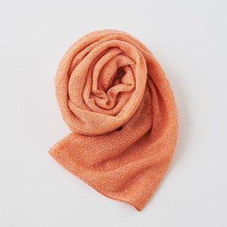 Mohair knit linen stall Orange