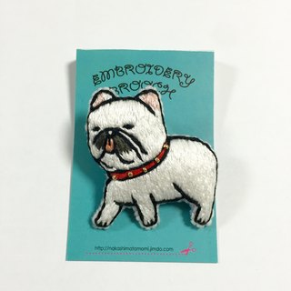 Order production dog embroidery brooch