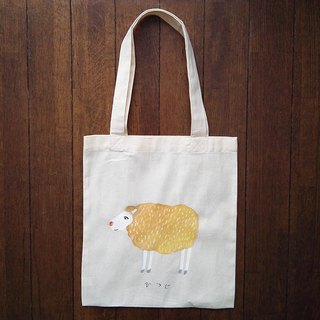 Hand-painted one point cotton bag sheep illustrations