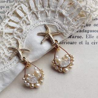 14 kgf Starfish x Vintage Pearl Bijou Drops Earrings earring / ear clip