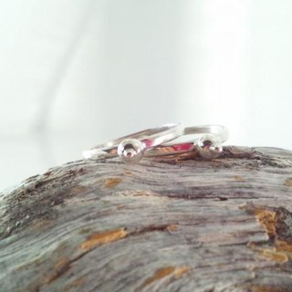 Nose antenna stacking silver ring (2)