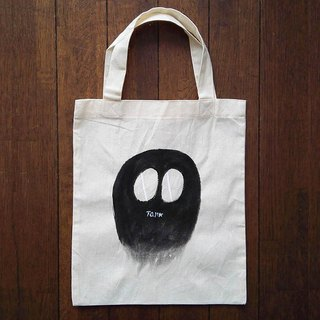 Hand-painted one point cotton bag character