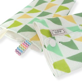 DROOL PADS, 口巾布, Ergo, Lillebaby, Baby Carrier, Green Triangle, Japanese Cotton