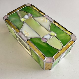 Tissue Box Cover Morning Garden Glass Bay View