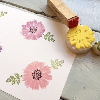 Eraser rubber stamp set for Yakari chrysanthemum