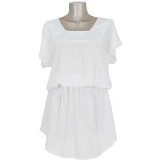Elegant for adults and cute browsing dress <White>