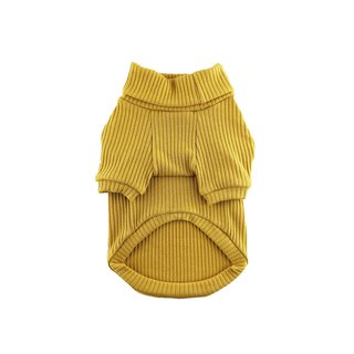 Mustard Rib Knit Turtleneck Top, Dog Sweater, Dog Clothing, Dog Fashion