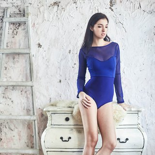 Darling Long Sleeve One piece : Zaffre Blue