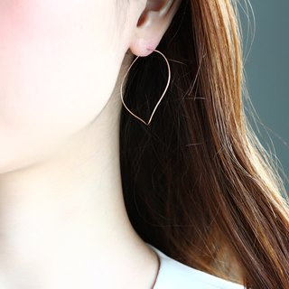 14 kgf - Rose gold filled nuance curve pierced earrings