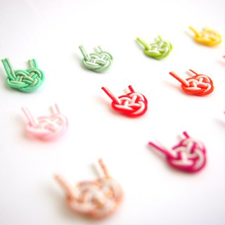 japanese style pierce / earring / mizuhiki / japan / accessory / kawaii