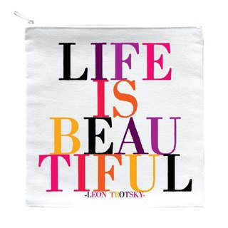 Life Is Beautiful 拉链袋