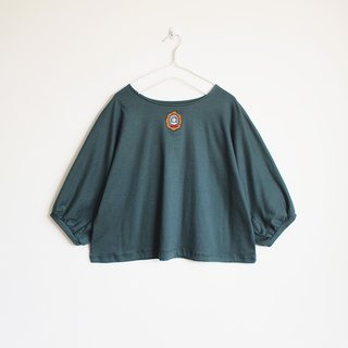 marquis cat blouse : green
