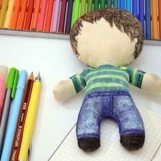 DIY doll to paint - Paint your own doll - Little doll - Perfect gift