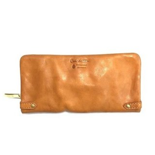 CU187BE long wallet round long leather leather unisex Italian leather