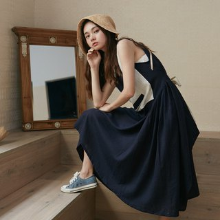 Navy Linen Sundress