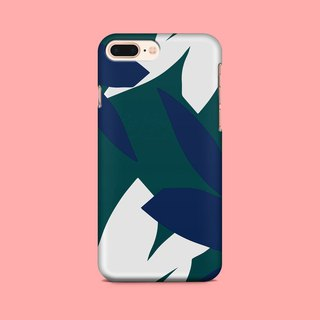 White & Blue Leaves Phone case