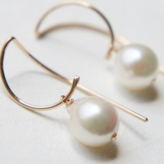 Japanese Akoya Pearl Earrings, Simple Earrings