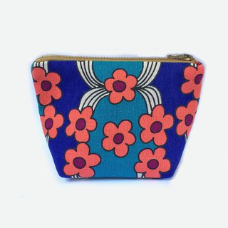 小钱包 Retro Flowers Coin Purse, Small Cosmetic Bag Zip Pouch