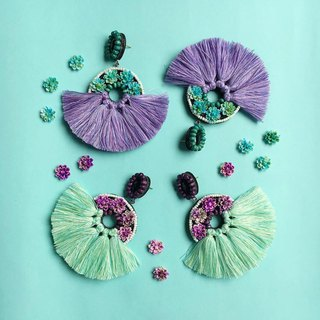 earrings : donut flower passel