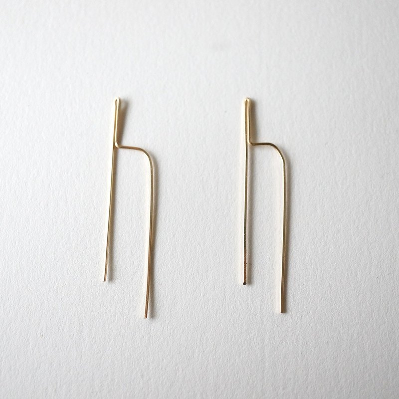 h pierce 14kgf earrings
