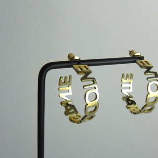 EN hoop earrings / brass