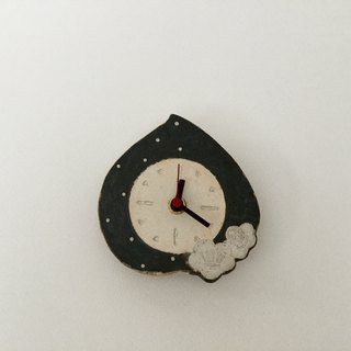 Pottery Wall Clock   Peach