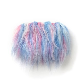 Cotton Candy Furry Purse