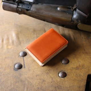 Japan Manufacture Tochigi Leather Production Cowhide name Cantilever name piece Cabinet red face made in JAPAN handmade leather card case