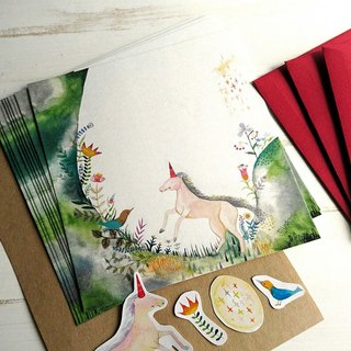Your horses and birds and / mini letter set