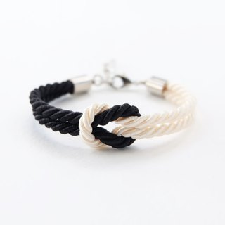 Black / Cream knot rope bracelet
