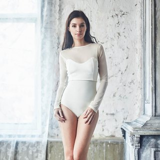 Darling Long Sleeve One piece : Ivory White
