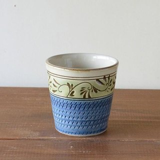 Green glazed tangle herbs free cup