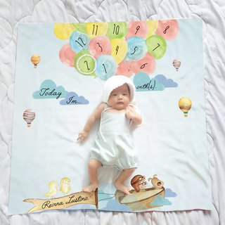 Balloon Milestone Blanket