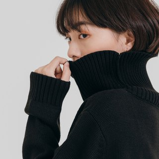 hao Black Turtle Neck Sweater 黑色高领毛衣