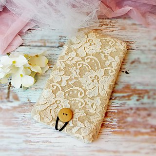 iPhone sleeve, Samsung Galaxy S8, Galaxy Note 8 pouch cover 自家制手提电话包, 手机布袋,布套 (可量身订制) - Lace series (P-239)