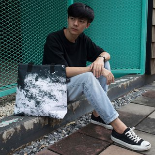 TOTE BAG / ZINC - PRINTED PIECE / BLACK GRAPHIC (ZN170202)