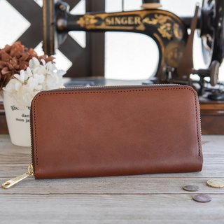 Japanese Manufacturer's cowhide packaging Tochigi leather making cocoa made in JAPAN handmade leather wallet