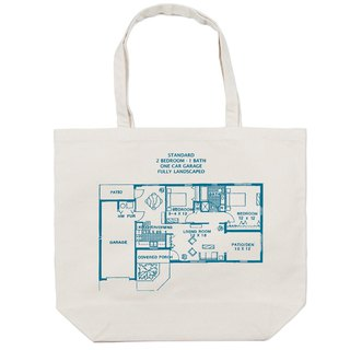 Foreign layout plan canvas tote bag Tcollector