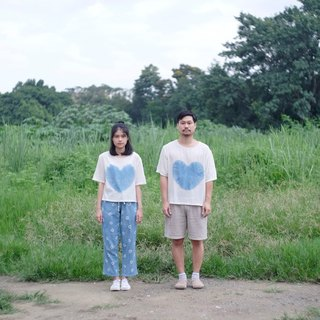 linnil: Cold heart shirt / natural indigo dye