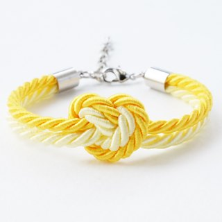 Yellow knot rope bracelet